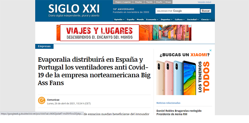 Noticias SIGLO XXI