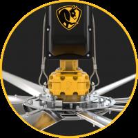 EVAPORALIA Big Ass Fans - POWERFOIL X3.0 - Sistema de seguridad de cables de acero